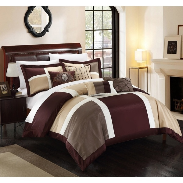 Chic Home Filomena Brown 11-Piece Comforter Set