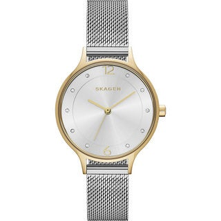 Skagen Women's SKW2340 Anita Silver Dial Watch with Stainless Steel Mesh Bracelet