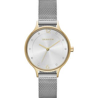 Skagen Women's SKW2340 Anita Silver Dial Watch with Stainless Steel Mesh Bracelet https://ak1.ostkcdn.com/images/products/11582569/P18523524.jpg?impolicy=medium