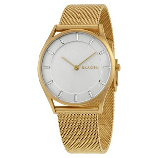 Skagen Women's Holst White Dial Mesh Bracelet Watch