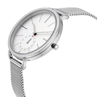 Skagen Women's Hagen White Dial Silver Mesh Bracelet Watch