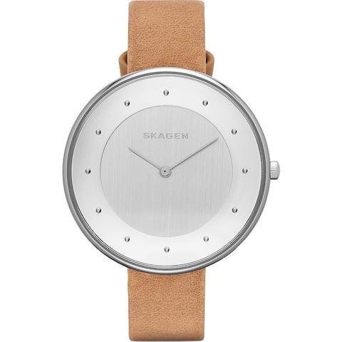 Skagen Women's SKW2326 Brown Leather Leather Quartz Watch