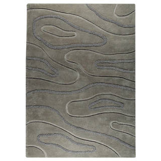 M.A. Trading Hand-tufted Indo Agra Grey Rug (5'6 x 7'10)