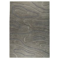 M.A. Trading Hand-tufted Indo Agra Grey Rug - 5'6 x 7'10