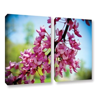 Amber Berninger's 'Spring Redbud' 2 Piece Gallery Wrapped Canvas Set