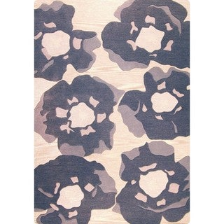 M.A. Trading Hand-tufted Indo Poppy Grey Rug (4'6 x 6'6)