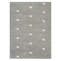 M.A. Trading Hand-knotted Indo Verona Grey Rug (9' x 12')