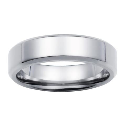Boston Bay Diamonds Men's 6MM Comfort Fit Titanium Wedding Band Ring