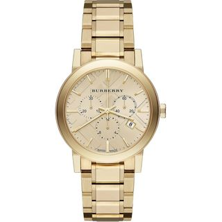 Burberry Women's BU9753 'The City' Chronograph Gold-Tone Stainless Steel Watch