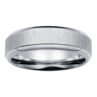 Boston Bay Diamonds Comfort Fit 6mm Titanium Wedding Band Ring