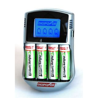Digipower DPS-6000 Endure Series Rapid Battery Charger with Four AA Pre-charged Batteries