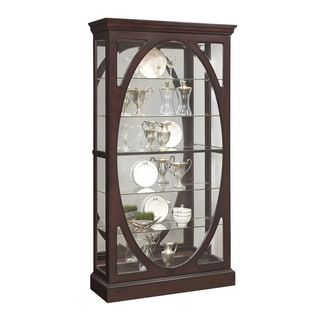 Dark Brown Two-way Sliding Door Curio Cabinet