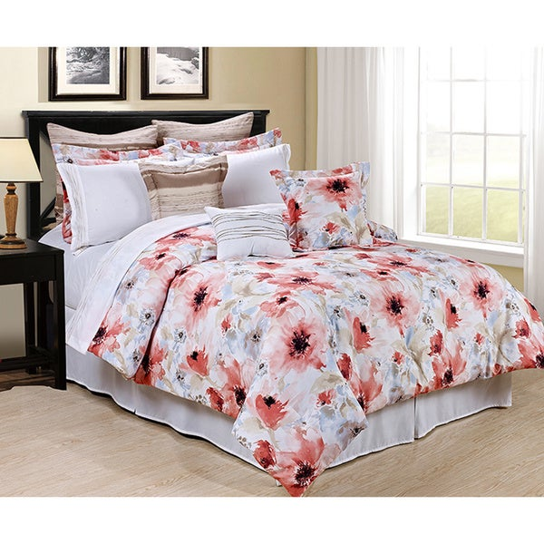 Sonata Complete Bed-in-a-Bag Floral Comforter Set with Sheets