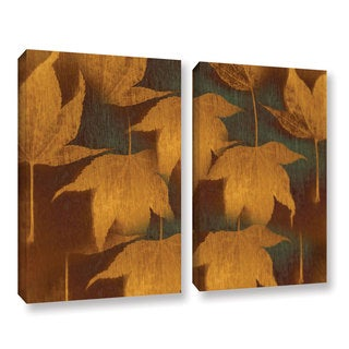 ArtWall Don Schwartz's 'Collection Of Leaves' 2 Piece Gallery Wrapped Canvas Set