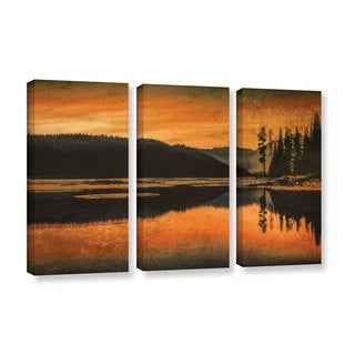 ArtWall Don Schwartz's 'Sparks Lake Serenity' 3 Piece Gallery Wrapped Canvas Set