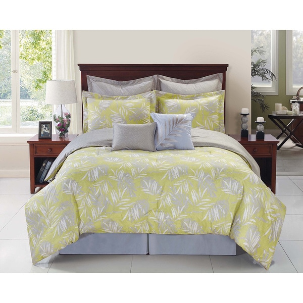 Palmetto Tropical Reversible Comforter Set