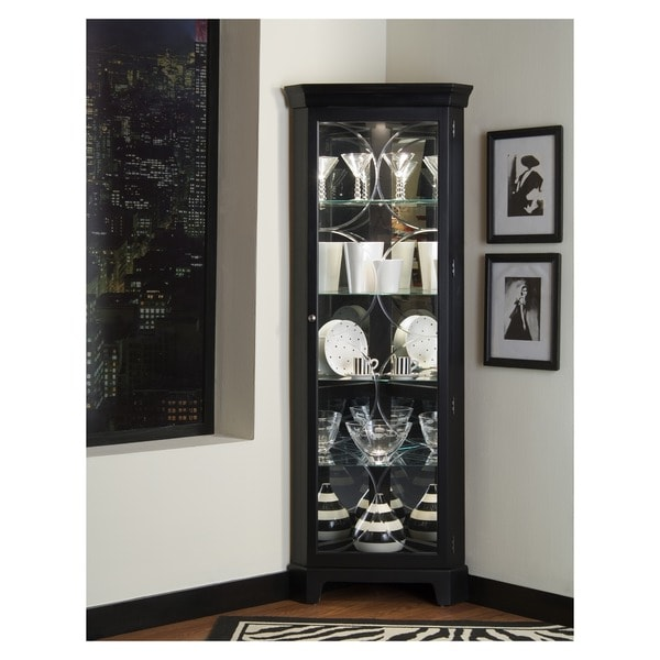 Oxford Black Corner Curio Cabinet On Free Shipping Today 11582783