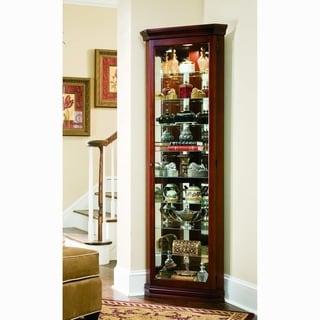 Victorian Cherry Corner Curio Cabinet