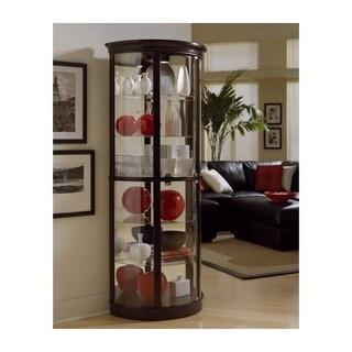 Chocolate Cherry Half-round Curio Cabinet