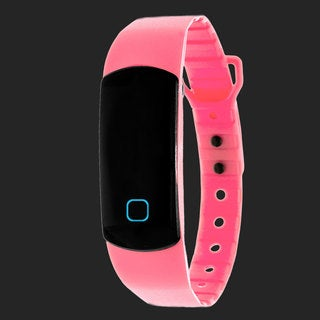 Zunammy Pink Effortless Ultra Light, Waterproof, Fitness and Activity Tracker W/ 30 Day Standby Rechargeable Battery