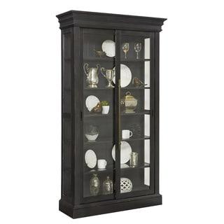 Charcoal Sliding Door Curio Cabinet