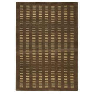 M.A. Trading Hand-knotted Indo Merano Brown Rug (8'3 x 11'6)