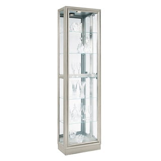 Platinum Finish Side Door Entry Curio Cabinet