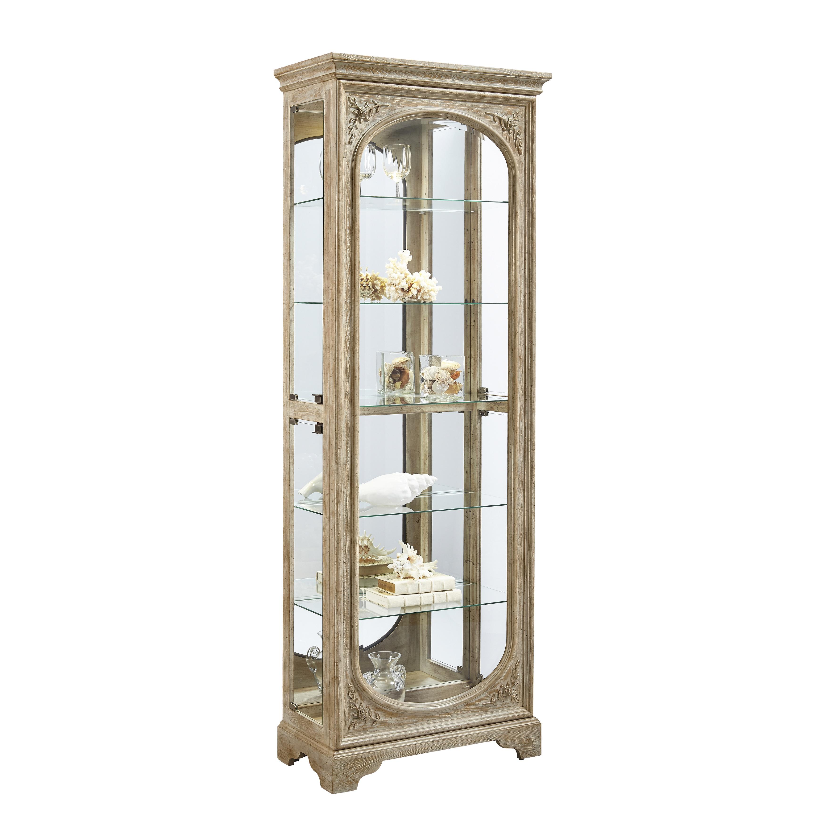 Light Brown Side Door Entry Curio Cabinet (Curio Cabinet)