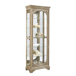 Light Brown Side Door Entry Curio Cabinet