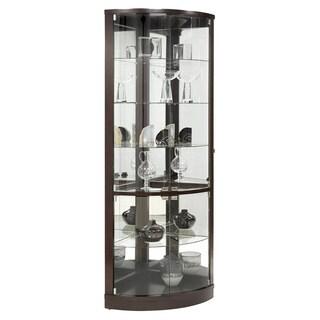 Brown Half-round Corner Curio Cabinet
