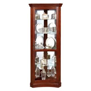 Silver Finish Half-round Curio Cabinet