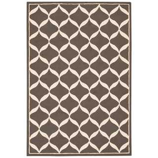 Nourison Decor Grey/White Rug (5' x 7')