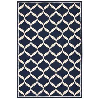 Nourison Decor Navy/White Rug (5' x 7')