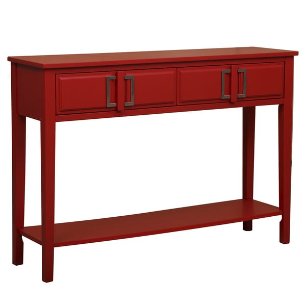 Bold red console table free shipping today overstock for 35 console table