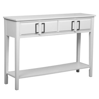 Inspire Q Shemar 1 Drawer Flared Legs Accent Console Table