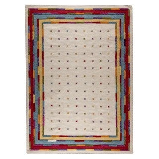M.A.Trading Hand-Woven Indo Khema6 White/ Multi Rug (9'x12')