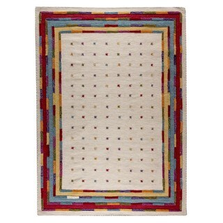 M.A. Trading Hand-woven Indo Khema6 White/ Multi Rug (9' x 12')