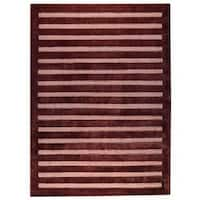 Handmade Indo Chicago Brown Rug (India)