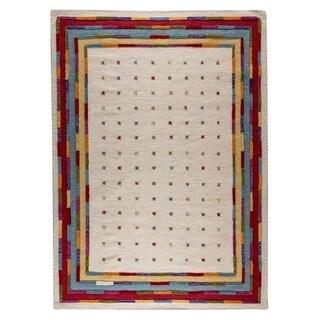 M.A.Trading Hand-Woven Indo Khema6 White/ Multi Rug (8'3 x 11'6)