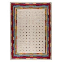 M.A. Trading Hand-woven Indo Khema6 White/ Multi Rug (8'3 x 11'6)
