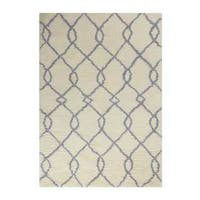 Nourison Galway Ivory/Blue Shag Area Rug (5' x 7')