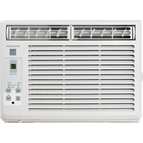 Frigidaire White FFRE0533S1 5,000 BTU 115V Window-Mounted Mini-Compact Air Conditioner with Full-Function Remote Control