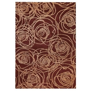 M.A.Trading Hand-Tufted Indo Rosa Red Rug (5'2 x 7'6)