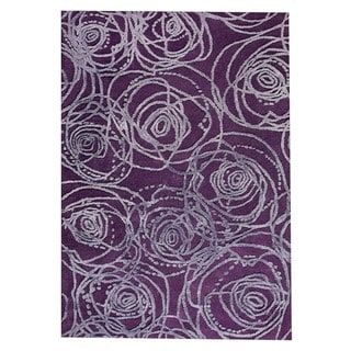 M.A.Trading Hand-Tufted Indo Rosa Purple Rug (5'2 x 7'6)