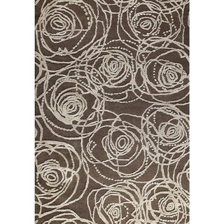 M.A.Trading Hand-Tufted Indo Rosa Grey Rug (5'2 x 7'6)