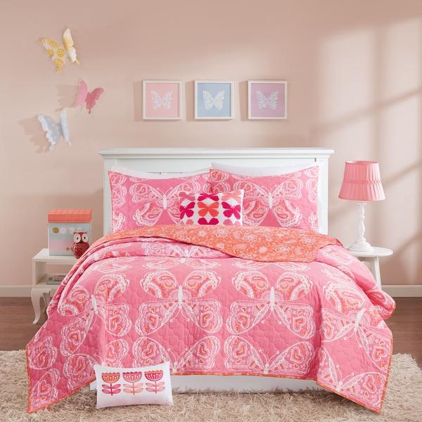 INK+IVY Kids Julia Pink Cotton Coverlet Set