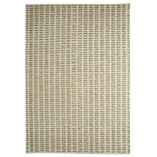 M.A.Trading Hand-Woven Indo Palmdale White/ Green Rug (8'3 x 11'6)