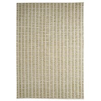 M.A. Trading Hand-woven Indo Palmdale White/ Green Rug (8'3 x 11'6)