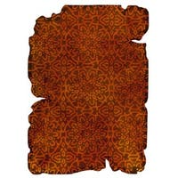 Hand-Tufted Indo Jalwa 3 Orange Rug (5'2 x 7'6)