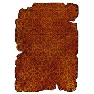 Handmade Indo Jalwa 3 Orange Rug - 5'2 x 7'6 (India)